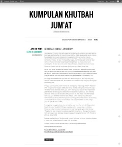 tampilan blog khutbahjumat.wordpress.com setelah diubah