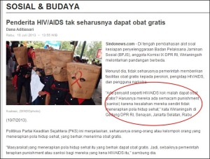 pernyataan @wirianingsih mengenai penderita HIV/AIDS