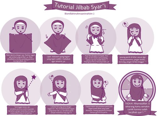 tutorial hijab syar'i (baca: simple)